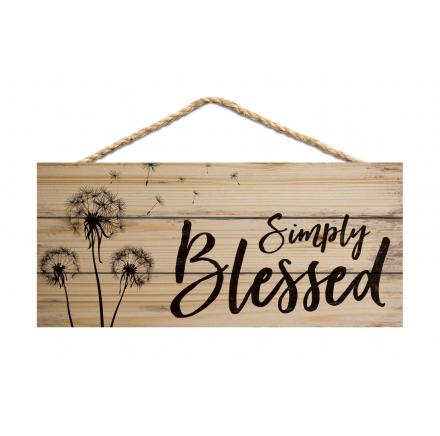 Simply Blessed - Hanging Sign