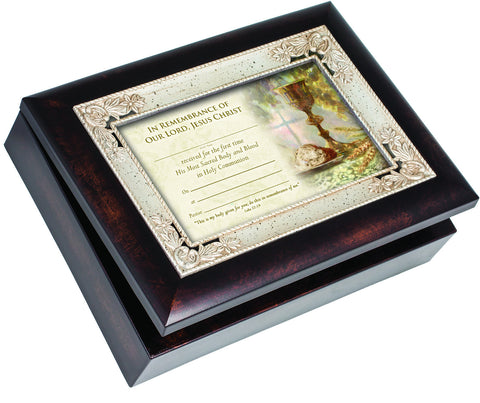 In Remembrance of me... First Communion Keepsake Music Box