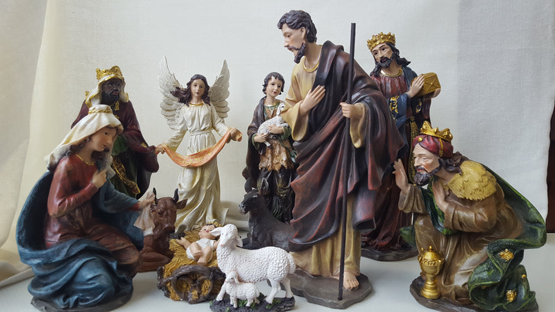 Nativity Set No Stable (11Pcs) 12""