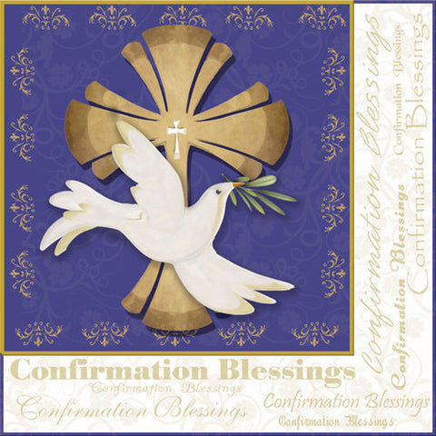 Confirmation Blessings Luncheon Napkins (20) Cross and Dove