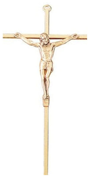"10"" Gold Plated Crucifix Religious Articles Jeweled Cross - St. Cloud Book Shop"
