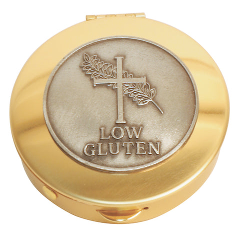Pyx, Brass with Low Gluten medallion, 12 host