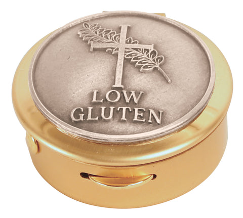 Pyx, Brass with Low Gluten medallion, 8 host