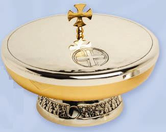 Ciborium Bowl, Gold and Silver Plated