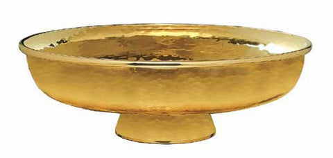 Ciborium Bowl, Hammered Finish, Gold Plated