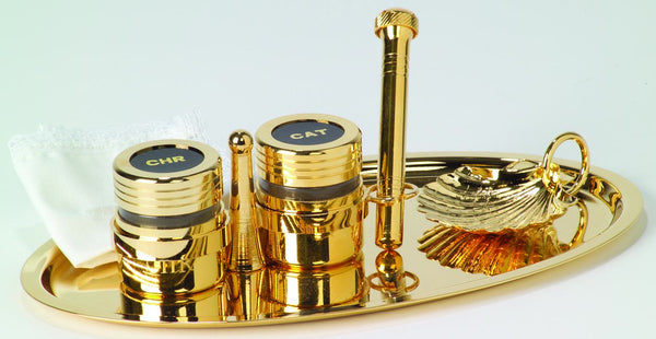 Baptismal Set, Gold Plated