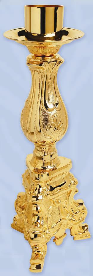 Paschal Candle Holder, Gold Plated, 21 3/4'', each