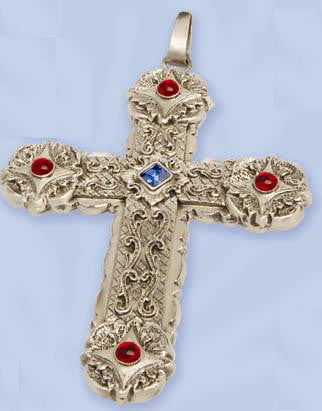"Pectoral Cross, with 36"" chain"