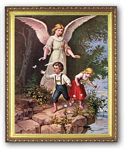 Guardian Angel Gold Frame
