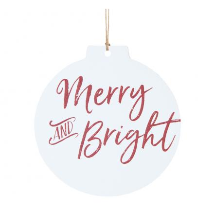 Merry And Bright - Ornament