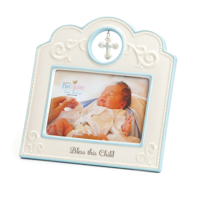 "TB Blue Bless This Child Frame - 4"" x 6"""