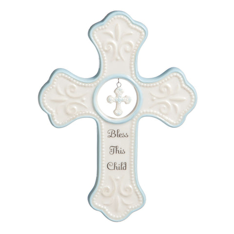 TB Blue Hanging Cross