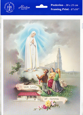 "Our Lady of Fatima 8"" X 10"" Print"