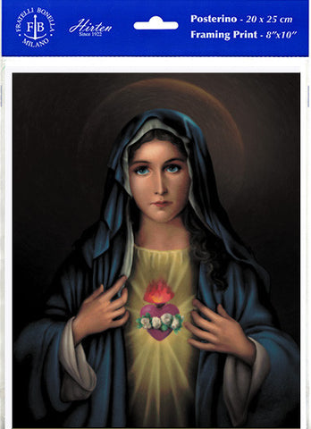 "Immaculate Heart of Mary 8"" X 10"" Print"