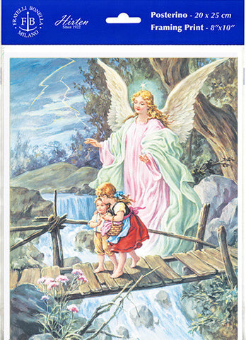 Guardian Angel Crossing Bridge 8 x 10 Print