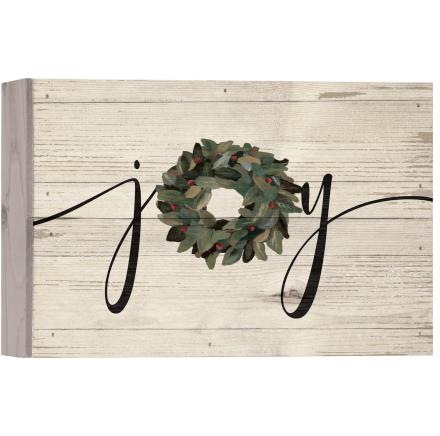Joy With Wreath Wall Art
