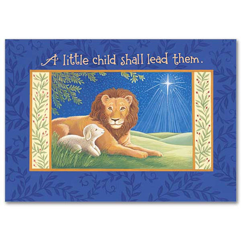 A Little Child Shall Lead Them Christmas Postcard