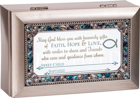 Boy Baptized Personalize Keepsake Music Box