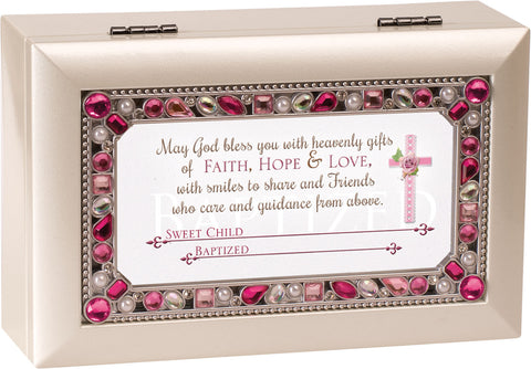 Personalized Girl Baptism Keepsake Music Box
