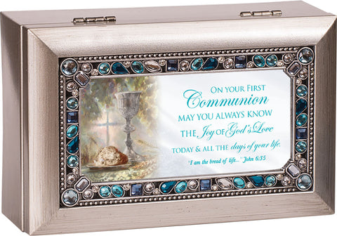 First Communion Music Keepsake Box