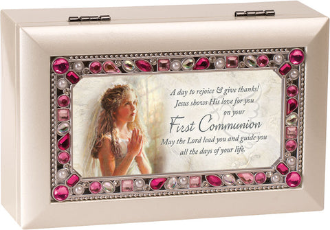 First Communion Girl Keepsake Music Box