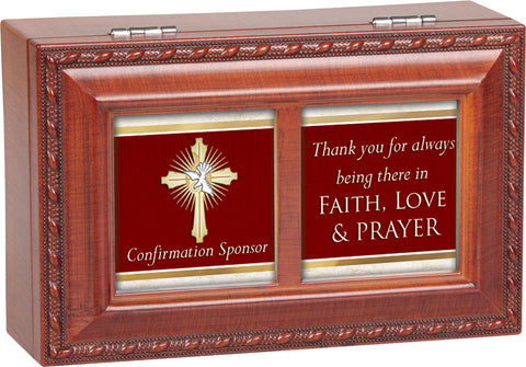 Thank you Confirmation Sponsor Keepsake Music Box