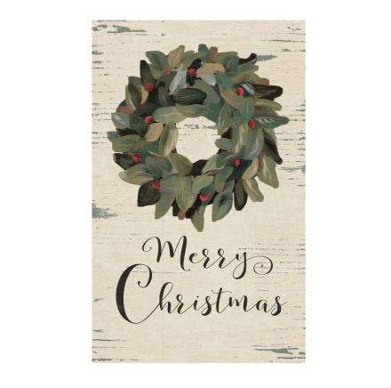 Merry Christmas With Wreath Wall Art