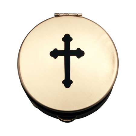 Size 1 Budded Cross Gold Stamped Pyx W/Screened Image