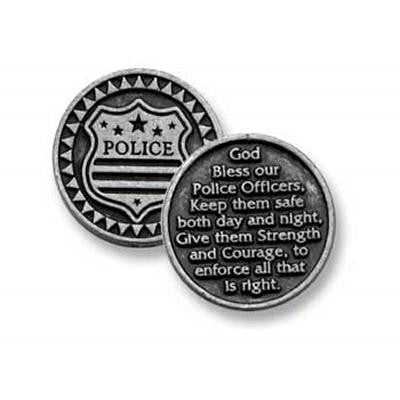 God Bless Our Police Officers Pocket Token