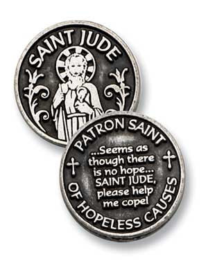 St. Jude Patron Saint Of Hopeless Causes Pocket Token
