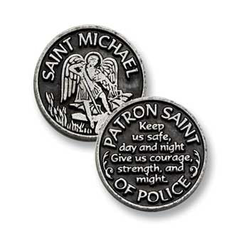 St. Michael Patron Saint Of Police Pocket Token