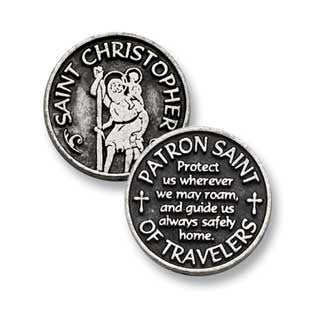 St. Christopher Patron Saint Of Travelers Pocket Token