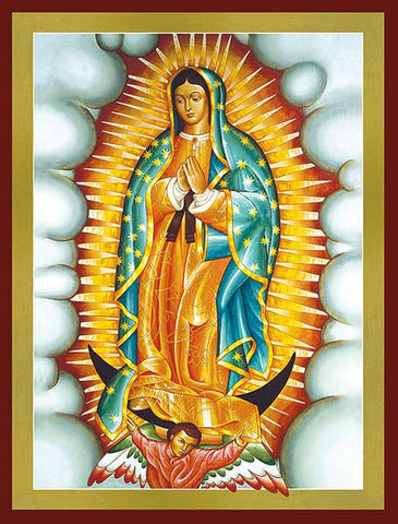 "Our Lady Of Guadalupe Icon 8"" Wood"
