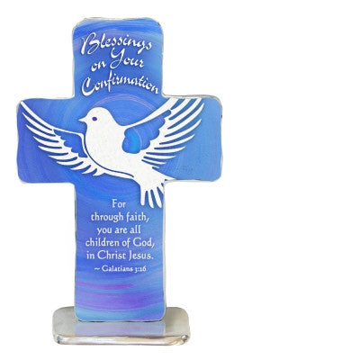 Confirmation Standing Cross Gift Boxed 4""