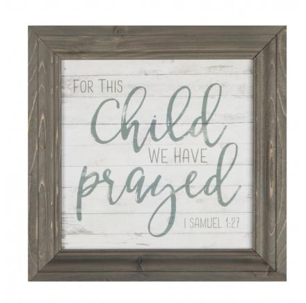 For This Child We Have Prayed Wall Art