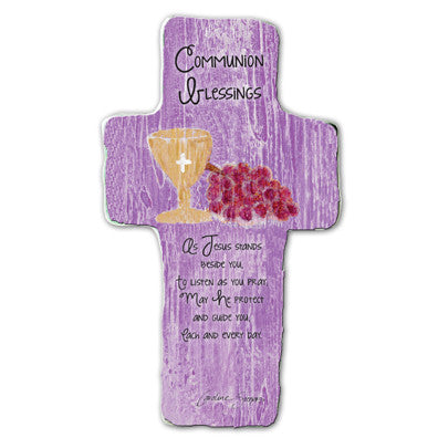 Communion Blessings Cross Plaque Tissue Wrapped & Boxed