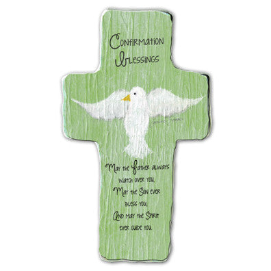 Confirmation Blessings Cross Plaque Tissue Wrapped & Boxed