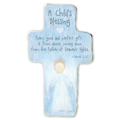 A Child's Blessing: Every Good & Perfect Gift Cross Plaque Tissue Wrapped & Boxed