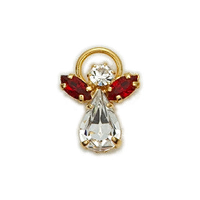 Birthstone Guardian Angel Pin January