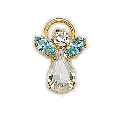 Birthstone Guardian Angel Pin March