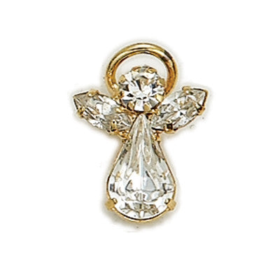 Birthstone Guardian Angel Pin April