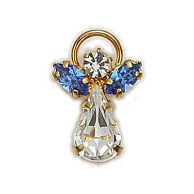 Birthstone Guardian Angel Pin September