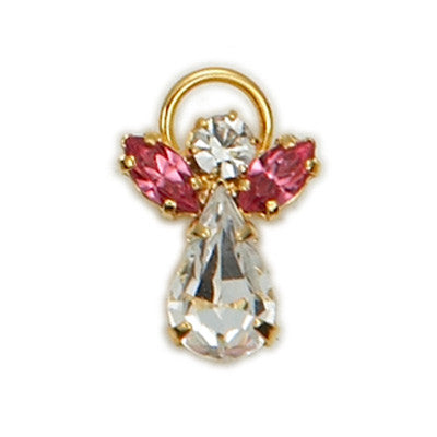 Birthstone Guardian Angel Pin October