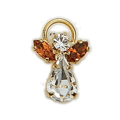 Birthstone Guardian Angel Pin November