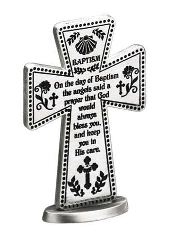 3 In Baptismal Blessing Standing Message Cross Gift Boxed