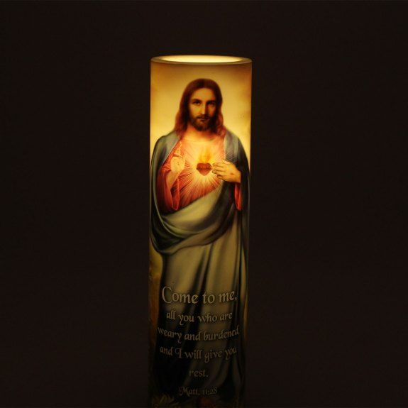 LED Candle – 12 Promises of The Sacred Heart of Jesus Christ
