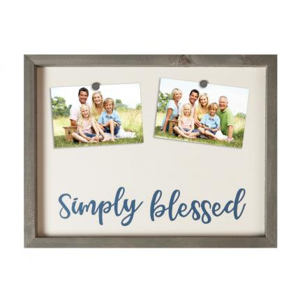 Simply Blessed Family Photo Display