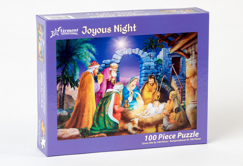 Joyous Night Kid's Christmas Jigsaw Puzzle 100 pieces