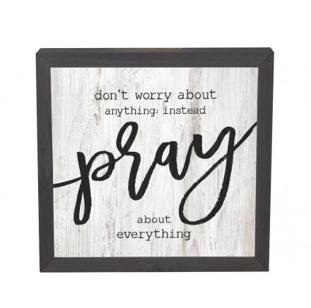 Don't Worry About Anything Pray About Everything Wall Art