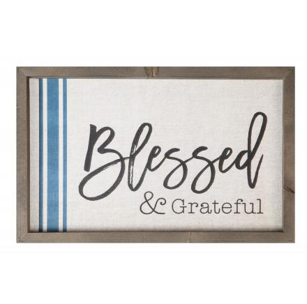 Blessed And Grateful Wall Art